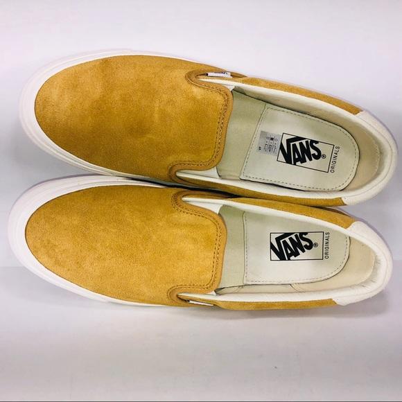 353ad3a09d VANS OG Silp On 59 LX Honey Mustard Suede Sneakers